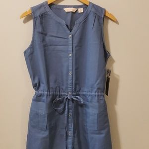 River Rose Sleeveless Boutique Denim Dress